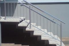 Treppengeländer Rundstabfüllung senkrecht